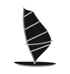 Windsurf board icon in black style isolated on vector