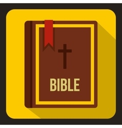 Bible icon in flat style vector image vector image