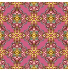 Damask ornament seamless pattern vector image vector image