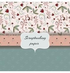 floral scrap booking paper vector image vector image