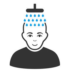 Head shower flat icon vector