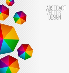 Heptagon Modern abstract colorful background vector image vector image