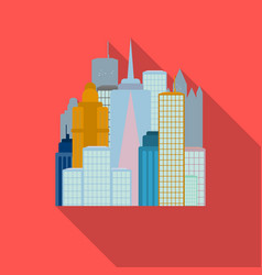 megalopolis icon in flate style isolated on white vector image
