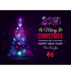 Merry Christmas 2015 celebration concept with xmas vector image vector image