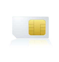 mobile cell phone sim card vector image