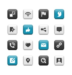 Social Network buttons vector image