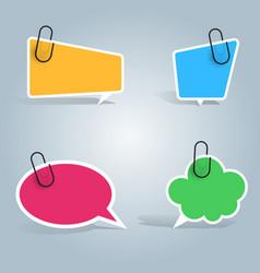 speech bubbles pin clip icon dialog box info vector image