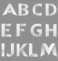 Abstract Paper Font Letter 1 vector image