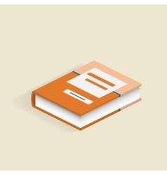 Book 3d isolated School book vector image
