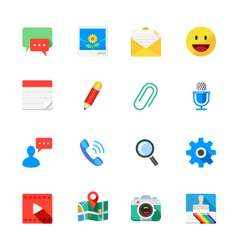 Chat Icons of Application vector image vector image