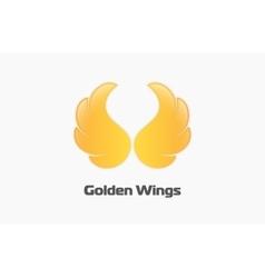 Golden wings logo Creative logo Beautiful logo vector image