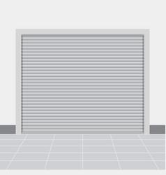 Roller warehouse shutter doors vector