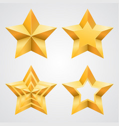 the collection of stars vector image