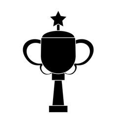 trophy star sport image pictogram vector image