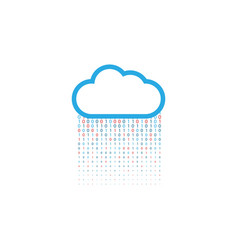 cloud storage of digital data on a white vector image