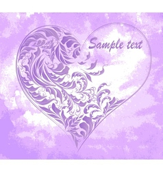 Grunge background with floral card vector image vector image