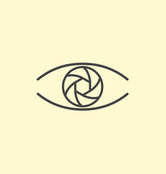 photography logo design eye line art vector image