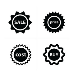 price tags label set vector image vector image