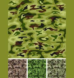 seamless military and hunting camo vector image