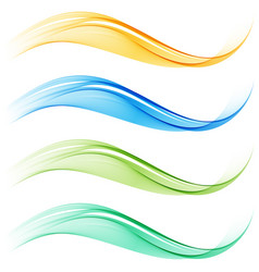 set of blend abstract wave vector image