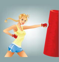 Woman Boxing vector image