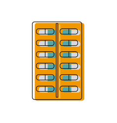 Tablet antibiotic vitamin capsule packaging for vector