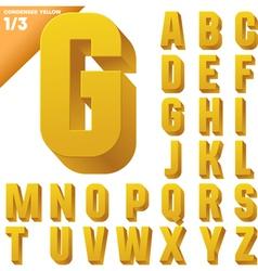 Three-dimensional condensed alphabet vector image