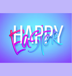 3d realistic rainbow holiday happy easter vector image
