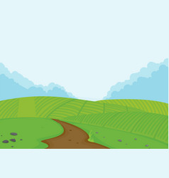 A farmland landscape background vector