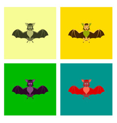 Assembly flat cute bat vector