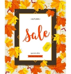 autumn sale vintage typography poster vector image