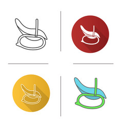 Baby rocking chair icon vector