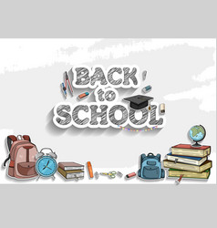 Back to school simple design with colorful vector