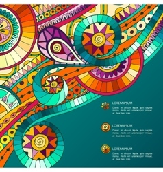Background with geometric mosaic elements vector