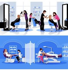 Beauty Salon Colorful Composition vector