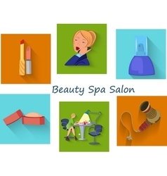 Beauty spa salon squares vector