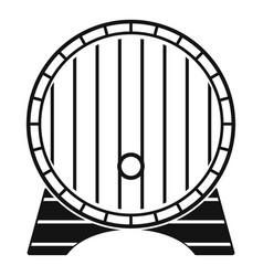 beer barrel icon simple style vector image