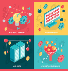 Big data design concept vector