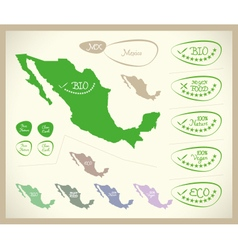 Bio Map MX Mexico vector