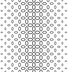 Black and white ellipse ring pattern background vector