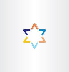 Blue orange star logo icon vector