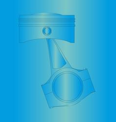 Blueprint piston vector