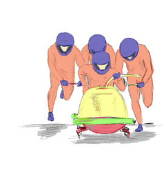 bobsleigh vector image