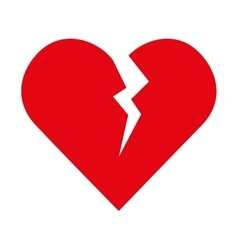 Broken heart love vector