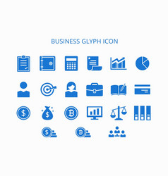 Business glyph icon vector