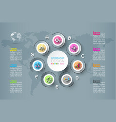business infographic with 7 steps vector image