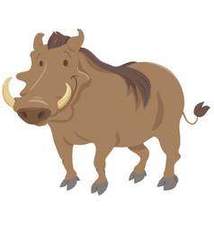 cartoon warthog animal character vector image