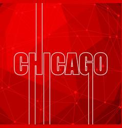 Chicago city name vector