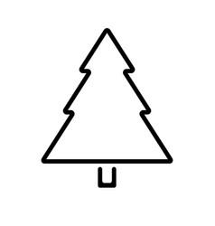 christmas tree outline icon vector image