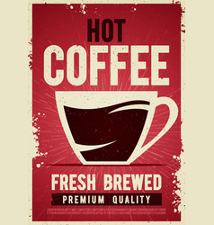 coffee shop retro vintage poster tin sign vector image